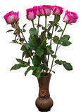 Bouquet of pink roses in vase Stock Image