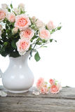 Bouquet of pink roses  in a vase Stock Photos