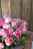 Bouquet pink tulips Royalty Free Stock Photo