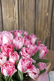 Bouquet pink tulips Stock Photo