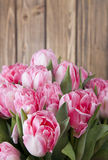 Bouquet pink tulips Stock Images