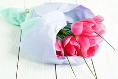 A bouquet of pink tulips Stock Image