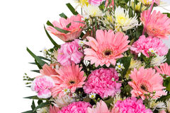 Bouquet. Pink and white flowers of bouquet Royalty Free Stock Images
