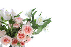 Bouquet of pink and white flowers Stock Photo