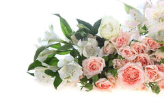 Bouquet of pink and white flowers Stock Image