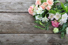 Bouquet of pink and white flowers Royalty Free Stock Photos