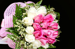 Bouquet of pink and white rose flowers Royalty Free Stock Photo