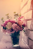Bouquet of pink and white roses Stock Photography