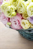 Bouquet of pink and yellow eustoma flowers Stock Images