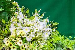 Bouquet of plastic flowers Stock Photos