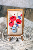 Bouquet of poppies - gingerbread Stock Images
