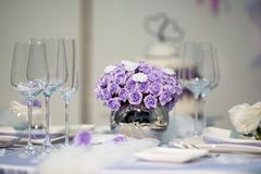 Bouquet pourpré de mariage Image libre de droits