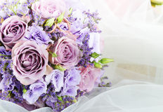 Bouquet of purple flowers Stock Photos
