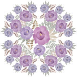 Bouquet of purple flowers illustration isolated Royalty Free Stock Image