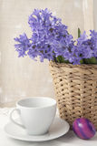 Bouquet of purple hyacinths Stock Image