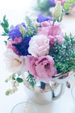 Bouquet of purple and pink eustomas Royalty Free Stock Photo