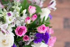 Bouquet Of Purple And Pink Flowers Stock Photo