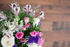 Bouquet Of Purple And Pink Flowers Stock Image