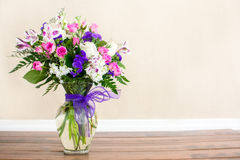 Bouquet Of Purple And Pink Flowers Stock Images