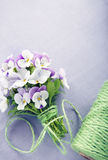 Bouquet of purple violets Stock Photography