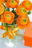 Bouquet of ranunculus flowers close up Royalty Free Stock Photos