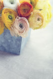 Bouquet of  ranunculus flowers Royalty Free Stock Photo
