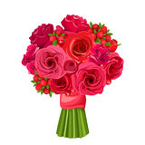 Bouquet of red flowers. Vector illustration. Stock Photo