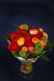 Bouquet of red and orange Ranunkulyus Stock Image