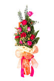 Bouquet of red&pink roses Stock Photography