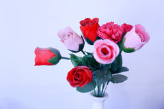 A bouquet of red and pink roses Stock Images