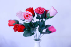 A bouquet of red and pink roses Stock Photography