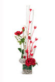 Bouquet of red rose flowers. Beautiful Bouquet of red rose flower  on white Royalty Free Stock Image