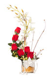 Bouquet of red rose flowers Stock Images