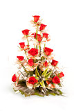 Bouquet of red rose flowers. Beautiful Bouquet of red rose  flower isolated on white Stock Photo