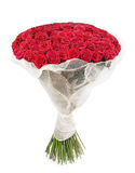 Bouquet of 101 red rose. A large bouquet of 101 red rose isolated on white Stock Photography