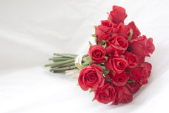 Bouquet of red roses. Isolated on white background Stock Image