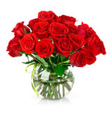 Bouquet of red roses. Isolated on white background Royalty Free Stock Photos
