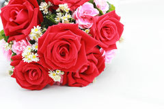 Bouquet of red roses. On white Royalty Free Stock Images