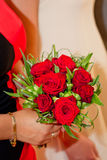 Bouquet of red roses. For wedding Royalty Free Stock Images