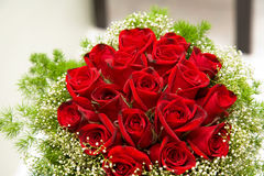 A bouquet of red roses Royalty Free Stock Photography