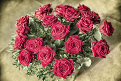 Bouquet of red roses Royalty Free Stock Photo