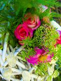 Bouquet of red roses. Beautiful flowers background for wedding scene Royalty Free Stock Photography