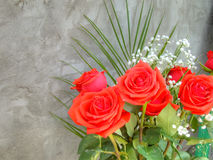 Bouquet with Red Roses Royalty Free Stock Photo