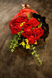 Bouquet, red roses are colorful spring flowers. Beautiful bouquet of flowers for celebration and wedding Stock Photography