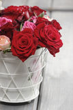 Bouquet of red roses. Copy space Royalty Free Stock Photography