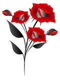 The bouquet of red roses, element of design. Royalty Free Stock Image
