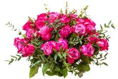 A bouquet of red roses. isolate on white background. Ein großer Blumenstrauß aus roten Rosen auf weißem Hintergrund. Isolieren stock photo