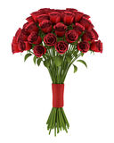 Bouquet of red roses isolated on white stock illustration
