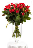 Bouquet of red roses over white Stock Photo