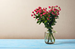 Bouquet of red roses in a pot Stock Photos
